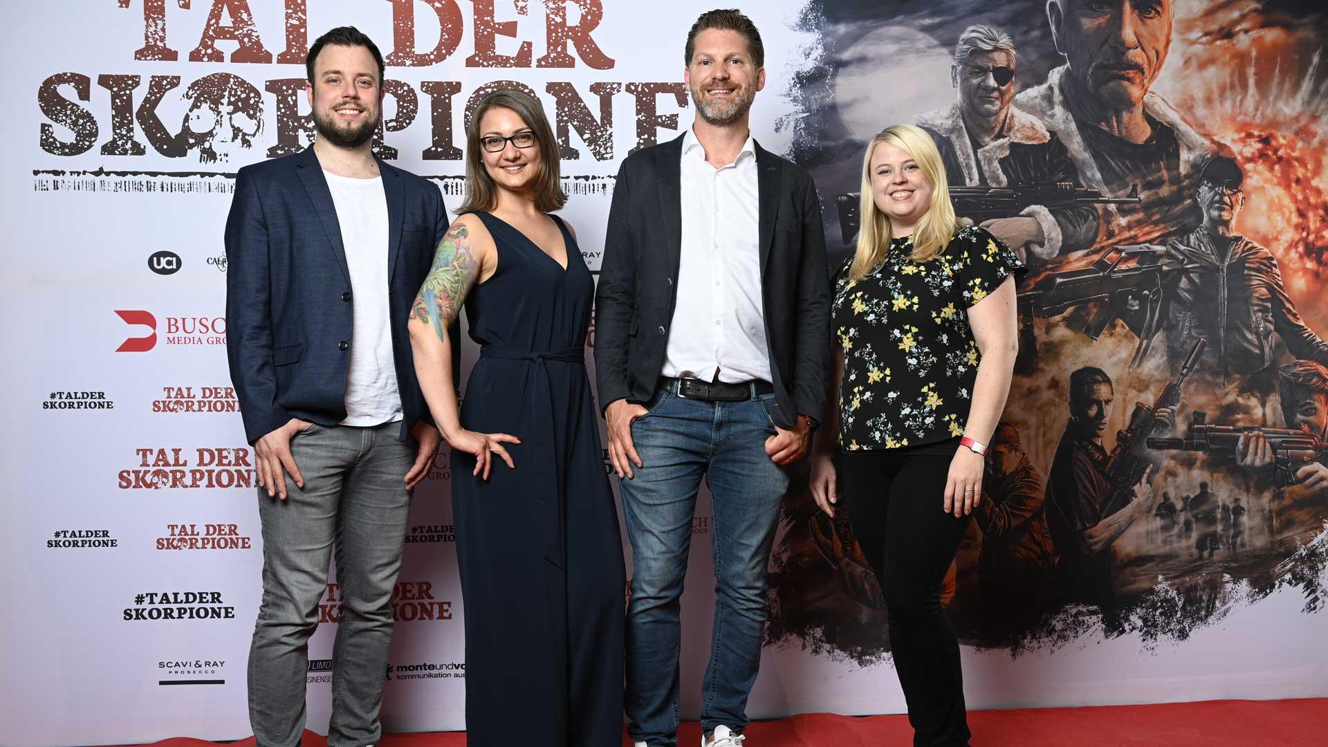 Das Team der Busch Media Group auf der NRW-Premiere von TAL DER SKORPIONE